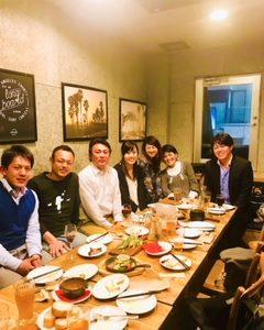 懇親会 with aloha staff members